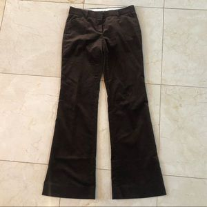 Theory Brown Velvet Trousers Size 2 98% Cotton